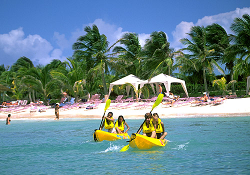 Kayaks at Aruba Beach