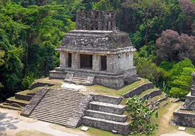 Temple of the Sun at Palenque National Park