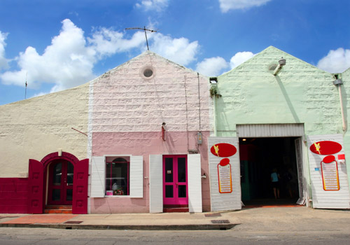 Colored Shops in Barbados