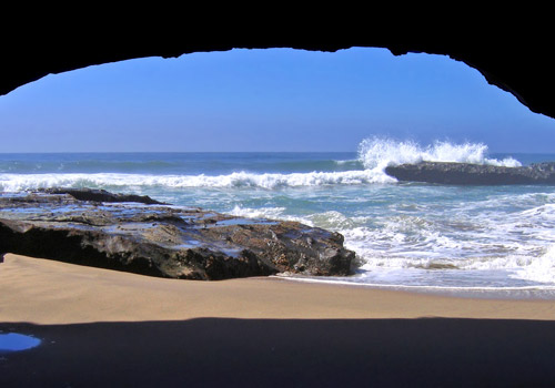 Cave at San Gregorio State Beach