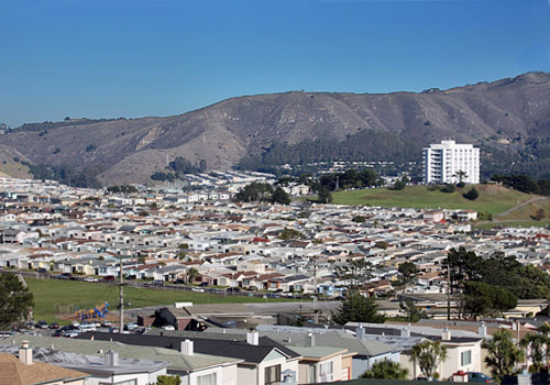 Daly City and the San Bruno Mountains