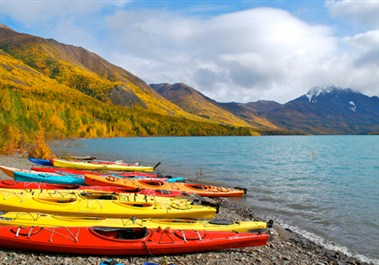 Eklutna Lake kayaking