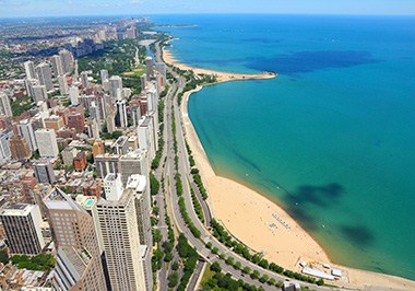 Chicago Gold Coast Skyline