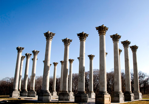 Old Capitol Columns at the National Arboretum