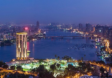 Cairo Skyline at Night