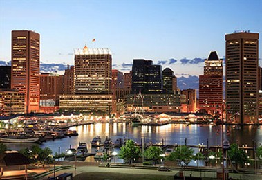 Baltimore Inner Harbour Night