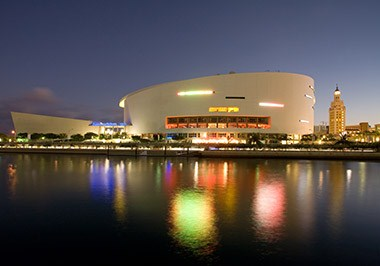 American Airlines Arena Freedom Tower