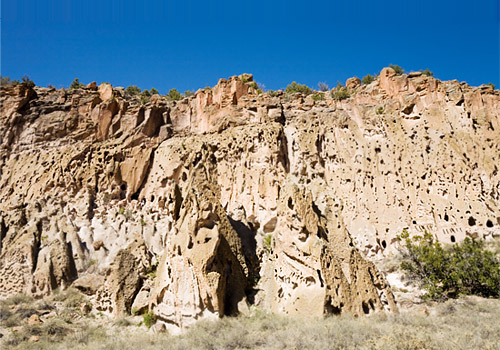 Cliffs at Bandelier National Monument