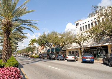 Coral Gables Miracle Mile long View LS