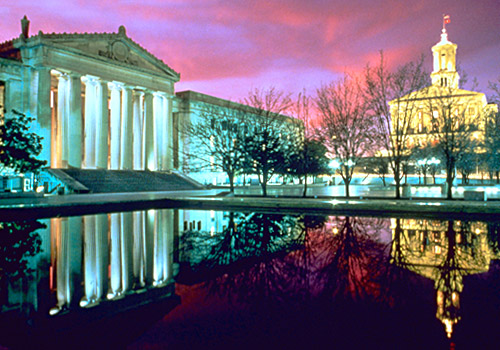 Legislative Plaza at Night 