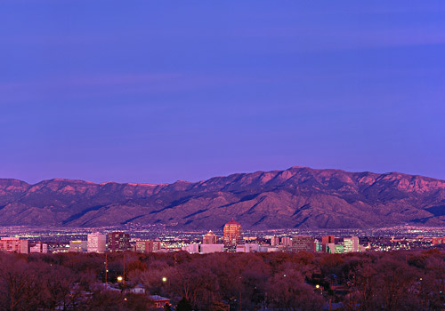 Albuquerque Skyline at Dusk