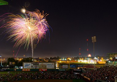 Fireworks at Hammons Field
