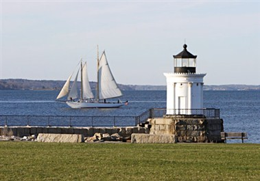 Breakwater Lighthouse (Buglight) in South Portland
