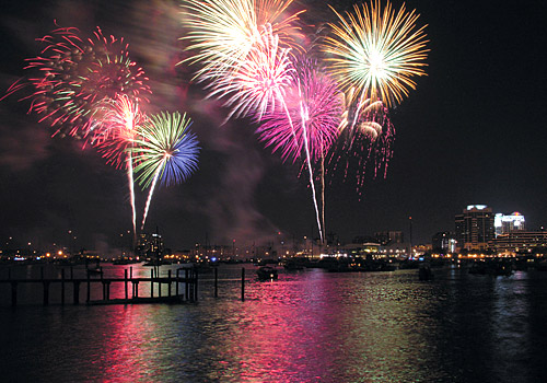 Fireworks on Elizabeth River