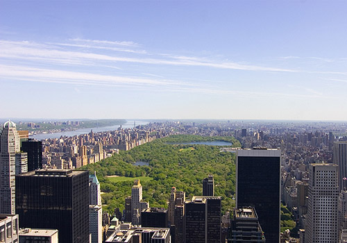 Central Park and Manhattan Skyline