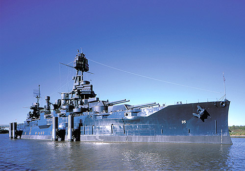 USS Texas at San Jacinto State Park