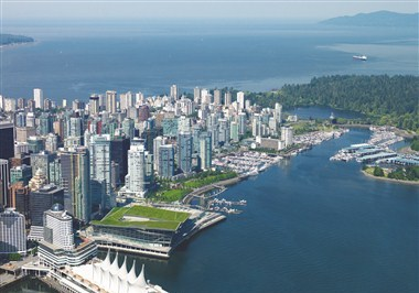 Vancouver Convention Centre Aerial View