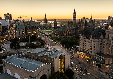 Panoramic view of downtown Ottawa
