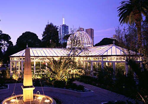 Melbourne Conservatory at Night