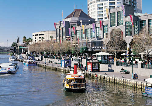 Water Taxi along the Yarra River