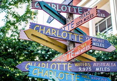 Charlotte Sign on The Green