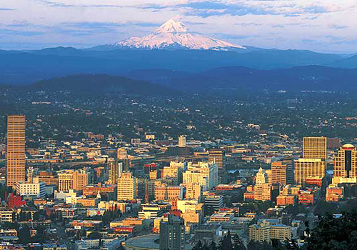 Portland Skyline and Mount Hood 