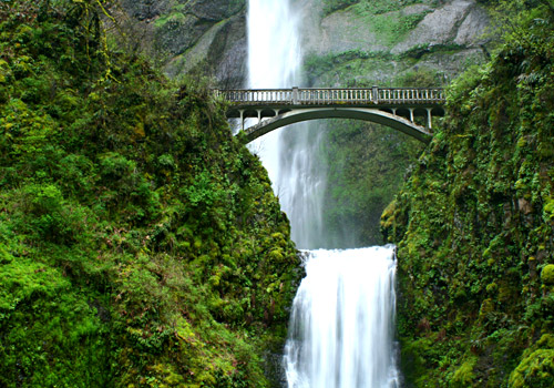 Multnomah Falls and Benson Bridge