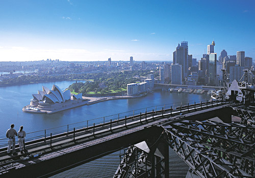 Skyline View from Harbour Bridge