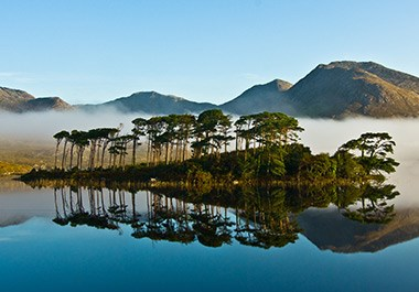 Pine Island in Derryclare Lough Connemara