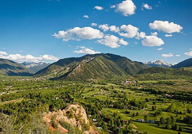 Aspen Mountain from Red Mountain