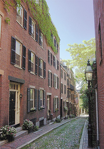 Acorn Street in the Beacon Hill Neighborhood