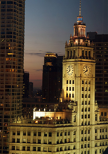 Wrigley Building Clock Tower