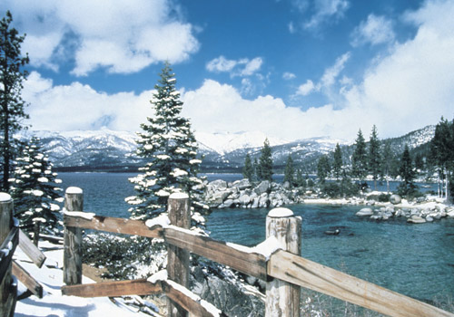 Lake Tahoe Covered with Snow