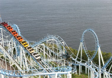 Roller Coaster in Ocean Park
