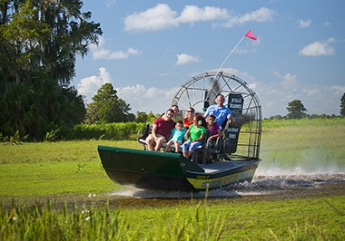 Airboat ride at Wild Florida Airboats & Gator Park