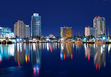 Downtown St. Petersburg Area Skyline