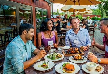 Outdoor Dining in Downtown Asheville
