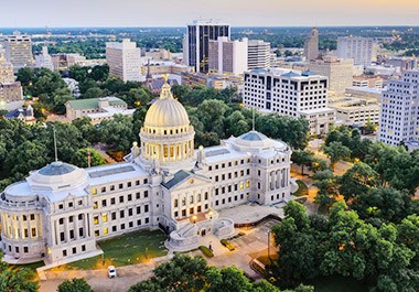Mississippi's Capitol Building located in Downtown