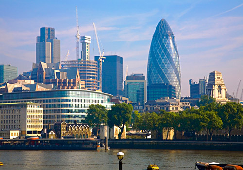 London Skyline and Gherkin Building