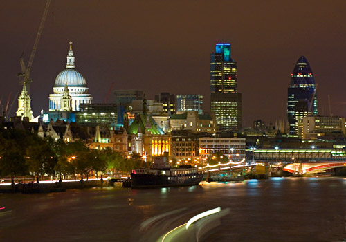 London Waterfront and Skyline 