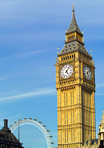 Big Ben Clocktower and London Eye
