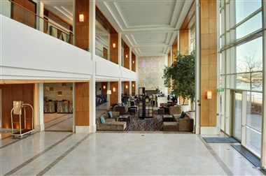 Lobby with beautiful daylight and waterview