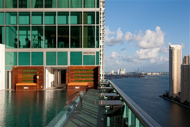 Pool deck overlooking Biscayne Bay