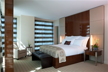 Bedroom of an executive suite