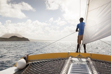 Daytrip Sailing from St Kitts to Nevis