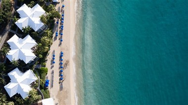Aerial Morning Star Beach Resort