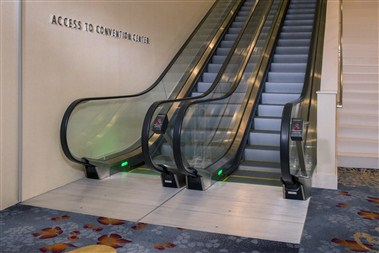 Escalator to Convention Center