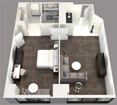 Deluxe King Suite Floor Plan