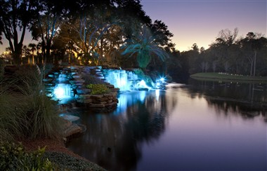 Sawgrass Waterfall at Night