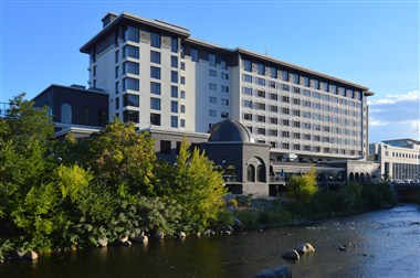 Hotel Exterior along the Truckee River
